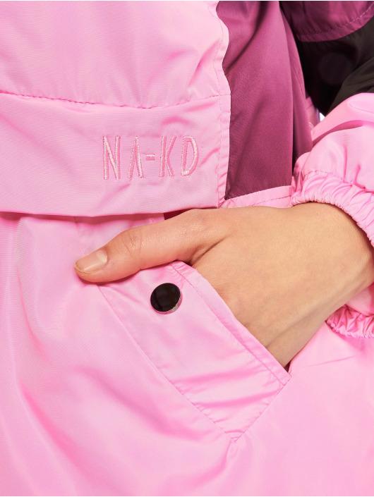 NA-KD Välikausitakit Hood Anorak vaaleanpunainen