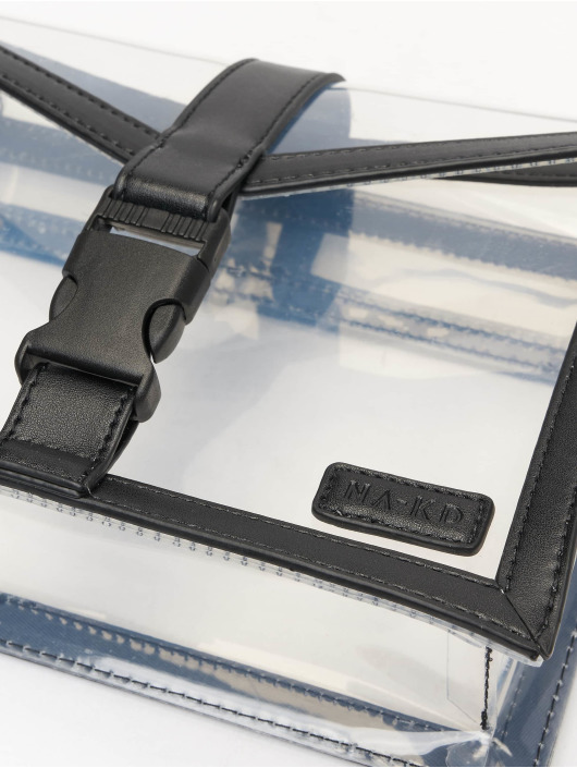 NA-KD Väska Transparent svart