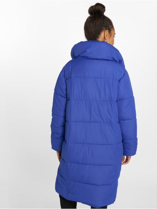 NA-KD Veste mi-saison légère Padded Shawl Collar bleu
