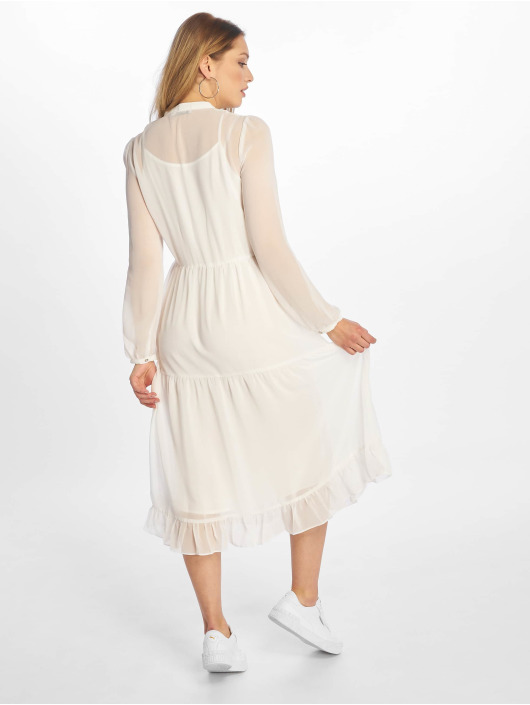 NA-KD Vestido Long Panel blanco