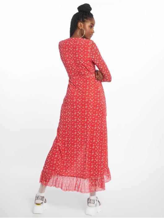 NA-KD Vestido Mesh Wrap rojo