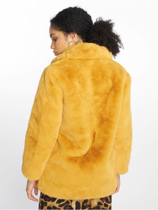 NA-KD Vinterjakke Fluffy Fur gul
