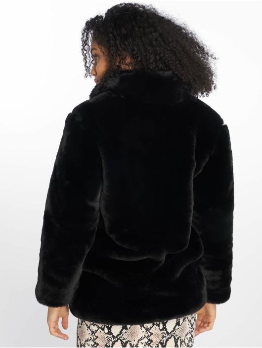 NA-KD Vinterjakker Fluffy Fur sort