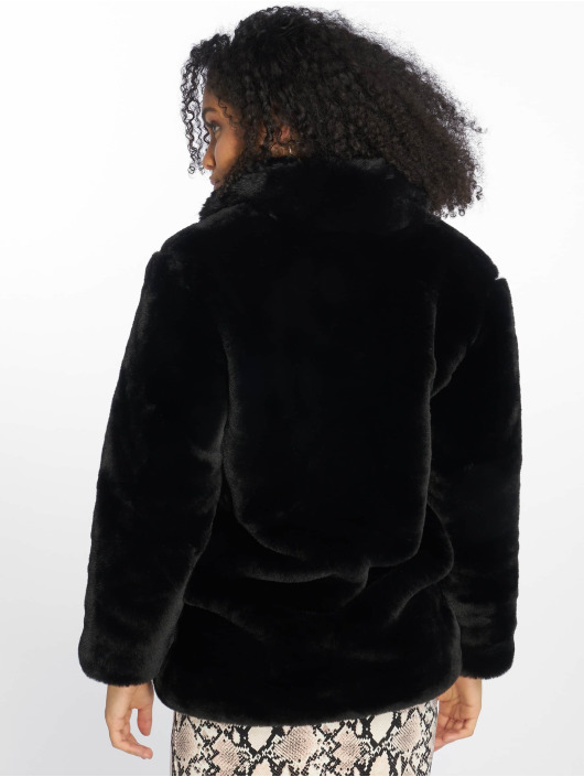 NA-KD Winter Jacket Fluffy Fur black