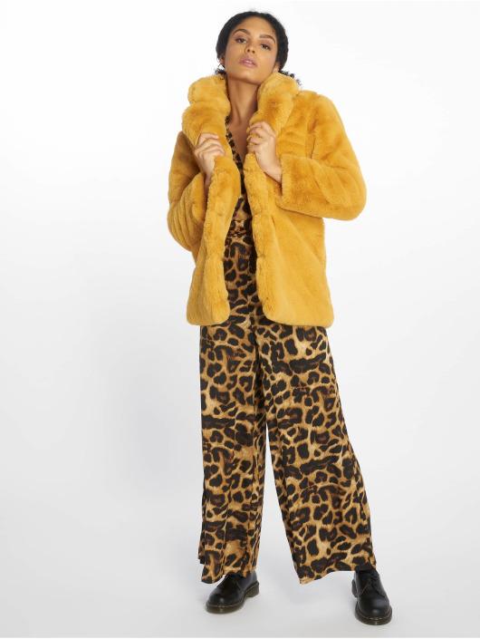 NA-KD Winterjacke Fluffy Fur gelb