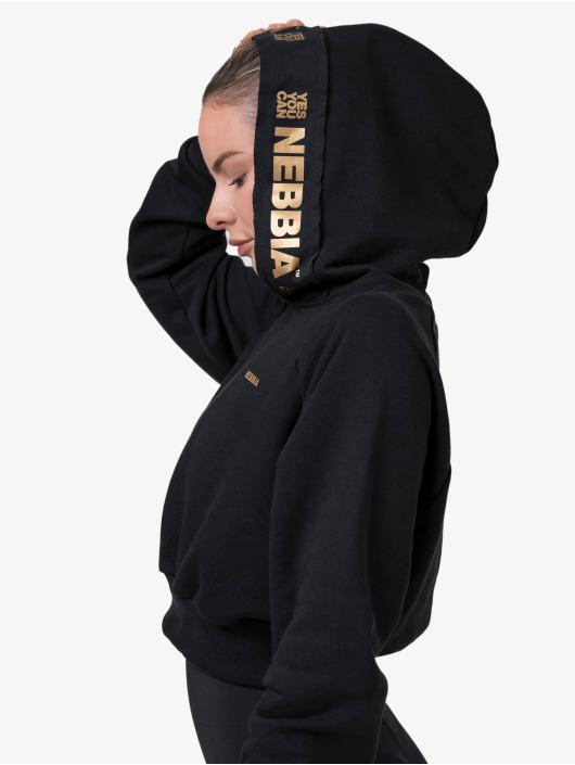 Nebbia Hoody Cropped schwarz