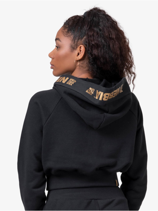 Nebbia Hoody Cropped zwart