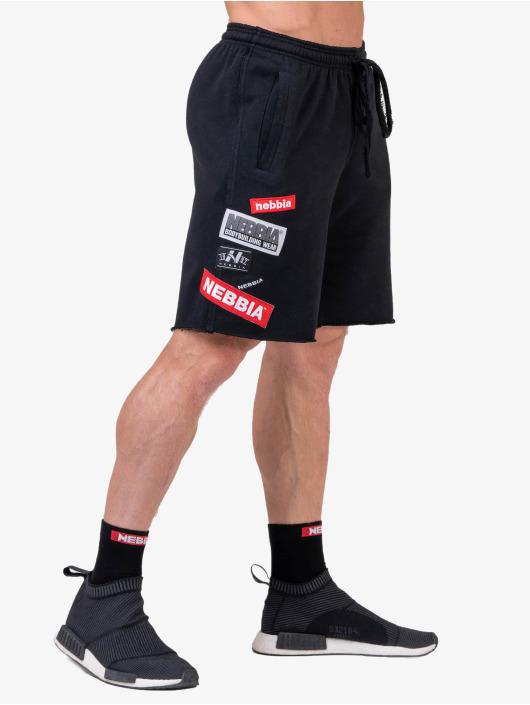 Nebbia Shorts Logo schwarz