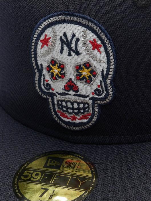 New Era Бейсболка MLB New York Yankees Skull 59Fifty синий