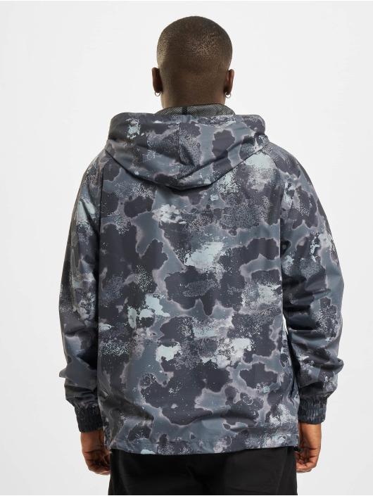 New Era Демисезонная куртка NBA Los Angeles Lakers Outdoor Utility AOP серый