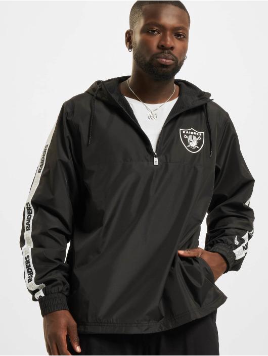 New Era Демисезонная куртка NFL Las Vegas Raiders Taping черный
