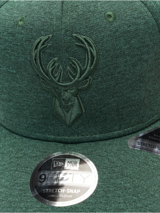 New Era Кепка с застёжкой NBA Milwaukee Bucks Tonal 9Fifty Stretch зеленый
