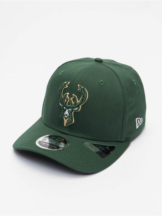 New Era Кепка с застёжкой NBA Milwaukee Bucks Team Colour 9Fifty Stretch зеленый