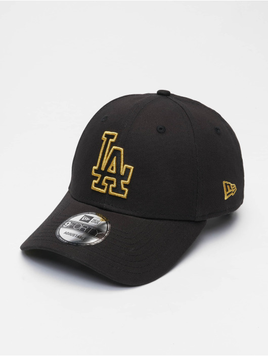 New Era Кепка с застёжкой Mlb Properties Los Angeles Dodgers Ne Metallic Logo 9forty черный