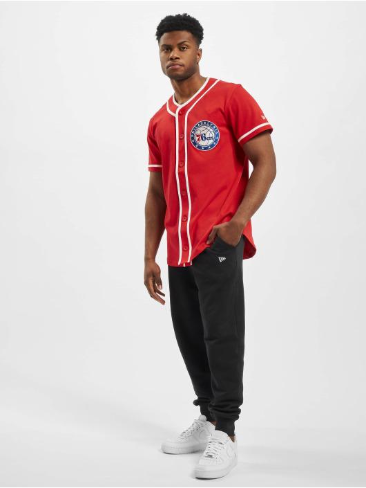 New Era Рубашка NBA Philadelphia 76ers Piping Button Up красный