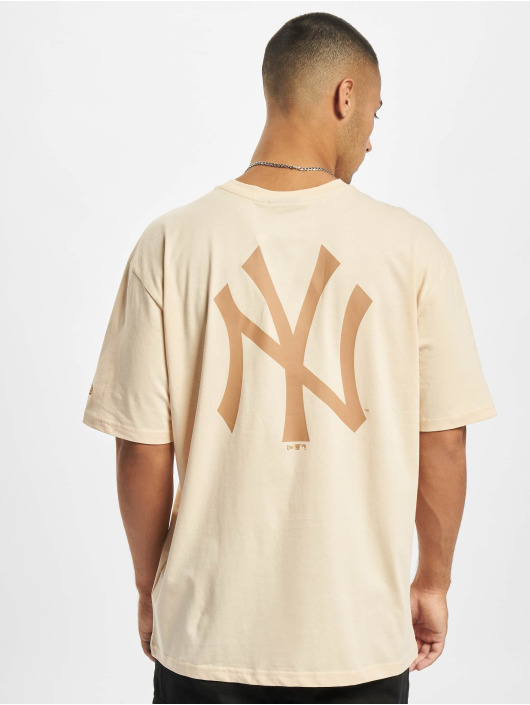 New Era Футболка MLB NY Yankees Oversized Seasonal Color Blocking бежевый