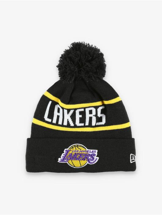 New Era Berretto di lana NBA LA Lakers Official Team Colour Bobble Knit nero
