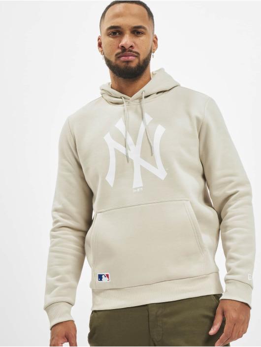 New Era Bluzy z kapturem MLB NY Yankees Seasonal Tm Logo bezowy