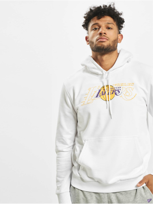 New Era Bluzy z kapturem NBA LA Lakers Graphic Overlap bialy