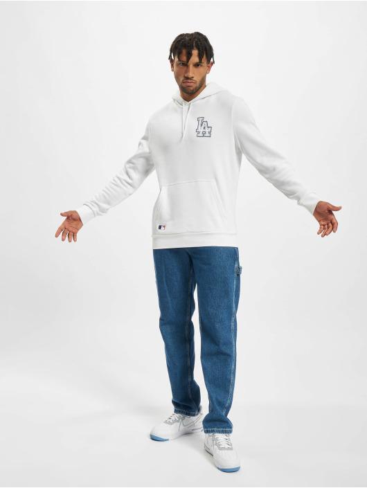 New Era Bluzy z kapturem MLB Los Angeles Dodgers Chain Stitch PO bialy
