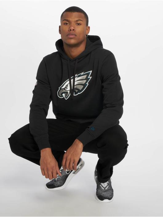 New Era Bluzy z kapturem Philadelphia Eagles Logo czarny