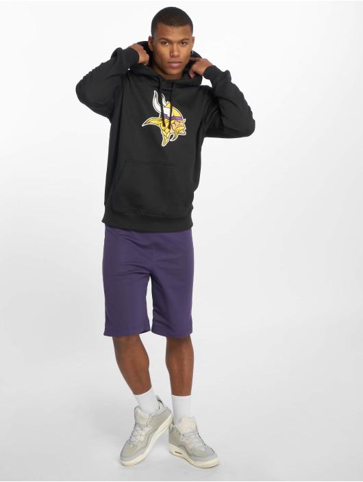 New Era Bluzy z kapturem Team Minnesota Vikings Logo czarny