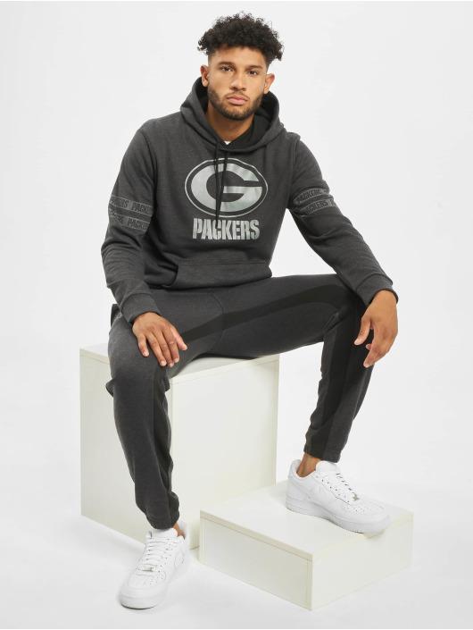 New Era Bluzy z kapturem NFL Green Bay Packers Tonal czarny