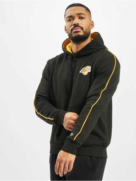 New Era Bluzy z kapturem NBA LA Lakers Stripe Piping czarny