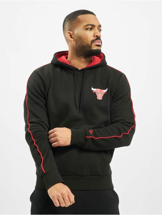 New Era Bluzy z kapturem NBA Chicago Bulls Stripe Piping czarny