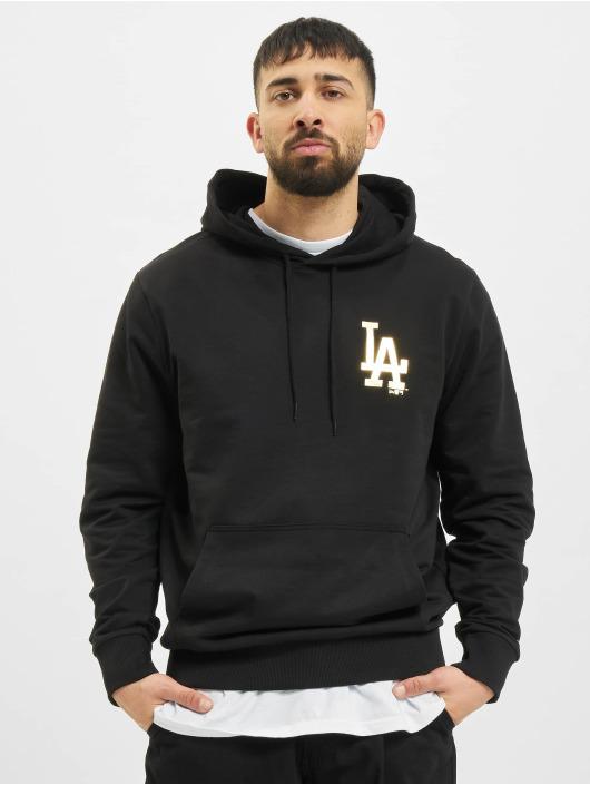 New Era Bluzy z kapturem MLB Los Angeles Dodgers Metalic czarny