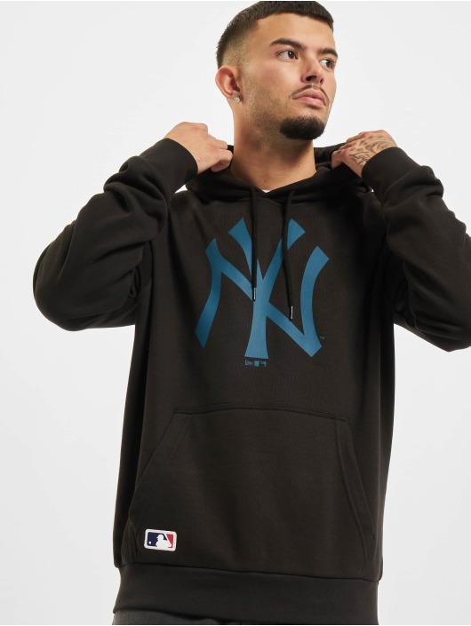 New Era Bluzy z kapturem MLB New York Yankees Seasonal Team Logo czarny