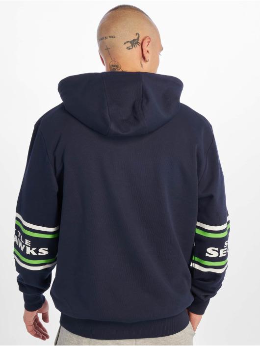 New Era Bluzy z kapturem NFL Seattle Seahawks Badge niebieski