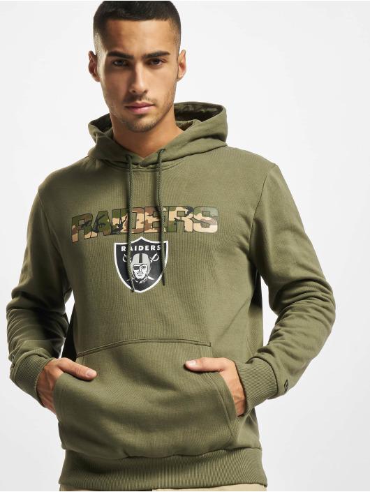 New Era Bluzy z kapturem NFL Las Vegas Raiders Camo Wordmark PO oliwkowy