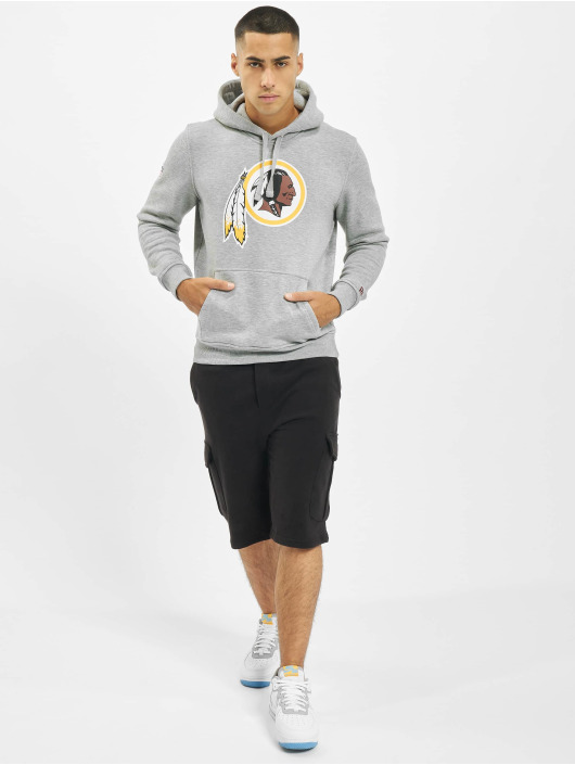 New Era Bluzy z kapturem Team Logo Washington Redskins szary