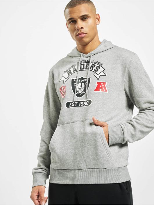 New Era Bluzy z kapturem NFL Oakland Raiders Graphic Po szary