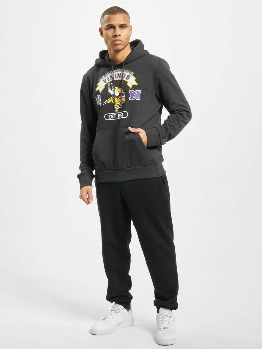 New Era Bluzy z kapturem NFL Minnesota Vikings Graphic Po szary