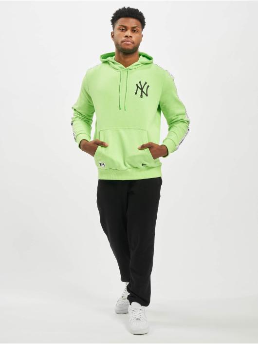 New Era Bluzy z kapturem MLB NY Yankees Sleeve Taping zielony