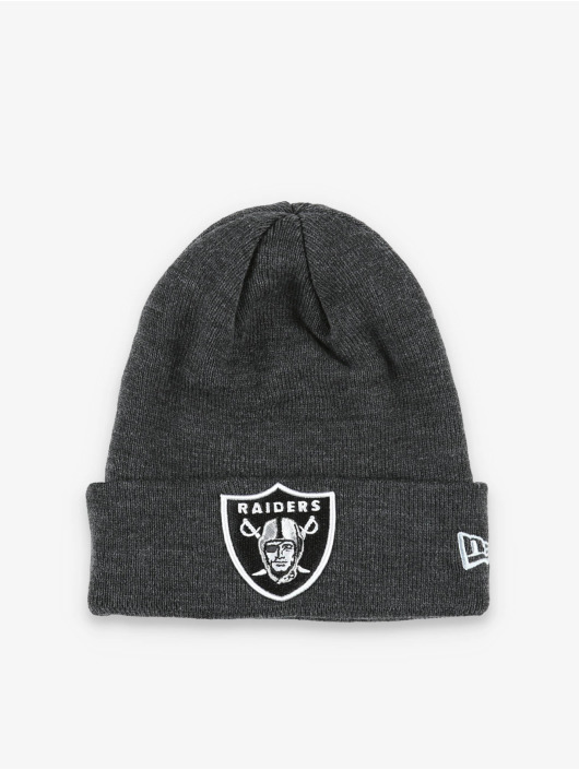 New Era Bonnet NFL Oakland Raiders Heather Essential Knit gris