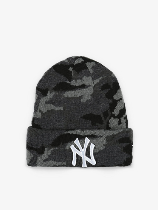 New Era Bonnet MLB NY Yankees Essential Camo Knit gris
