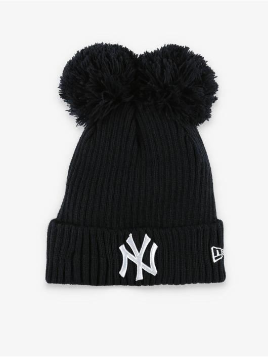 New Era Bonnet hiver MLB NY Yankees Double Pom Cuff bleu