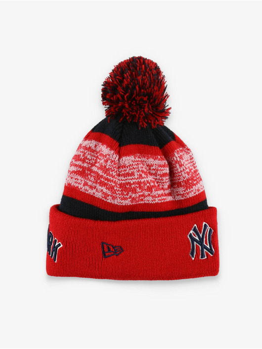 New Era Bonnet hiver MLB NY Yankees FL Snowfall Stripe 2 rouge