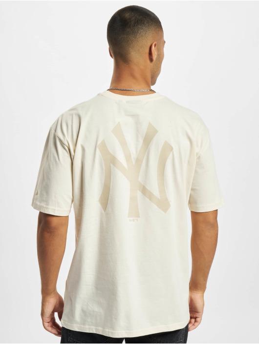 New Era Camiseta MLB NY Yankees Oversized Seasonal Color Blocking beis