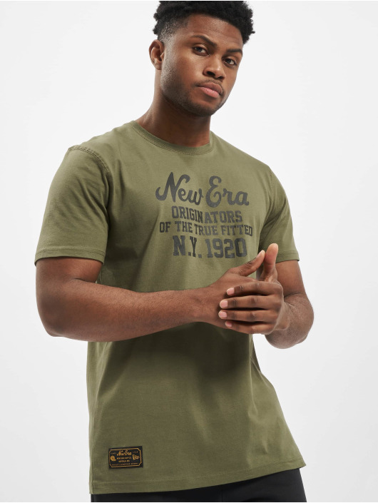 New Era Camiseta Established Heritage oliva