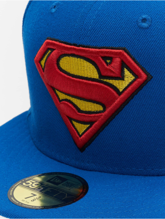 a4192248fda78 New Era | Character Basic Superman 59Fifty bleu Casquette Fitted 104709