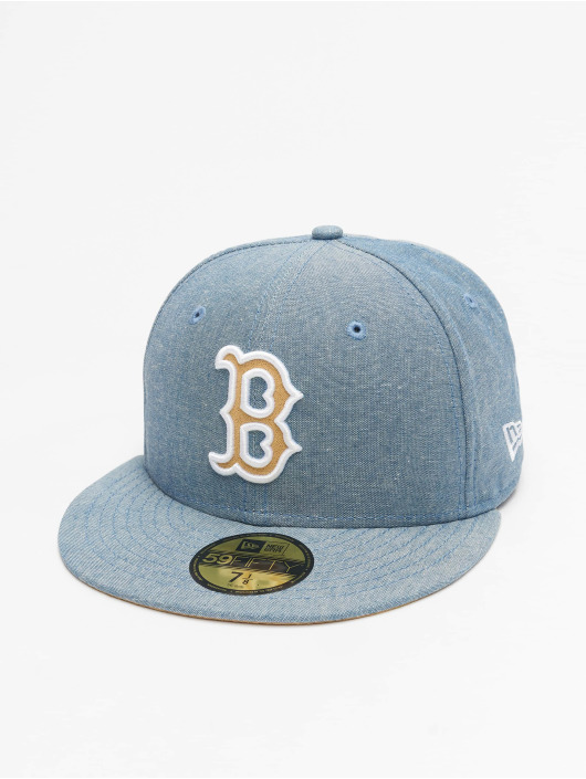 New Era Casquette Fitted Chamsuede Boston Red Sox bleu