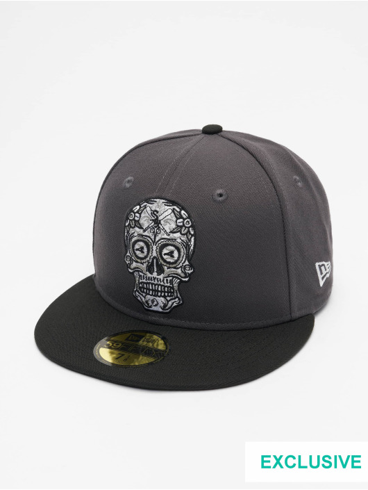 New Era Casquette Fitted MLB Chicago White Sox Candy Skull 59Fifty gris