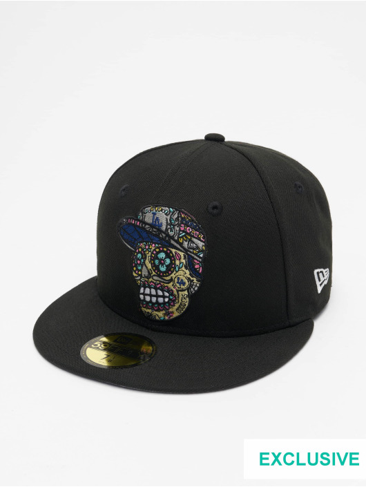 New Era Casquette Fitted Los Angeles Dodgers Skull Poly 59Fifty noir
