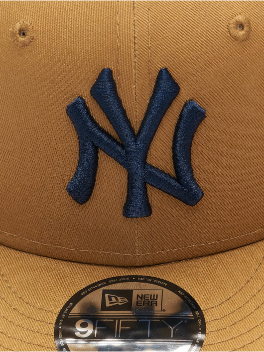 New Era Casquette Snapback & Strapback MLB New York Yankees League Essential 9Fifty beige