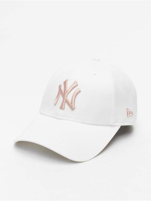 New Era Casquette Snapback & Strapback MLB NY Yankees Satin 9Forty blanc
