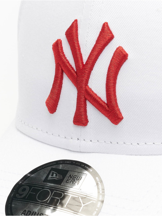 New Era Casquette Snapback & Strapback MLB NY Yankees League Essential 9Forty blanc